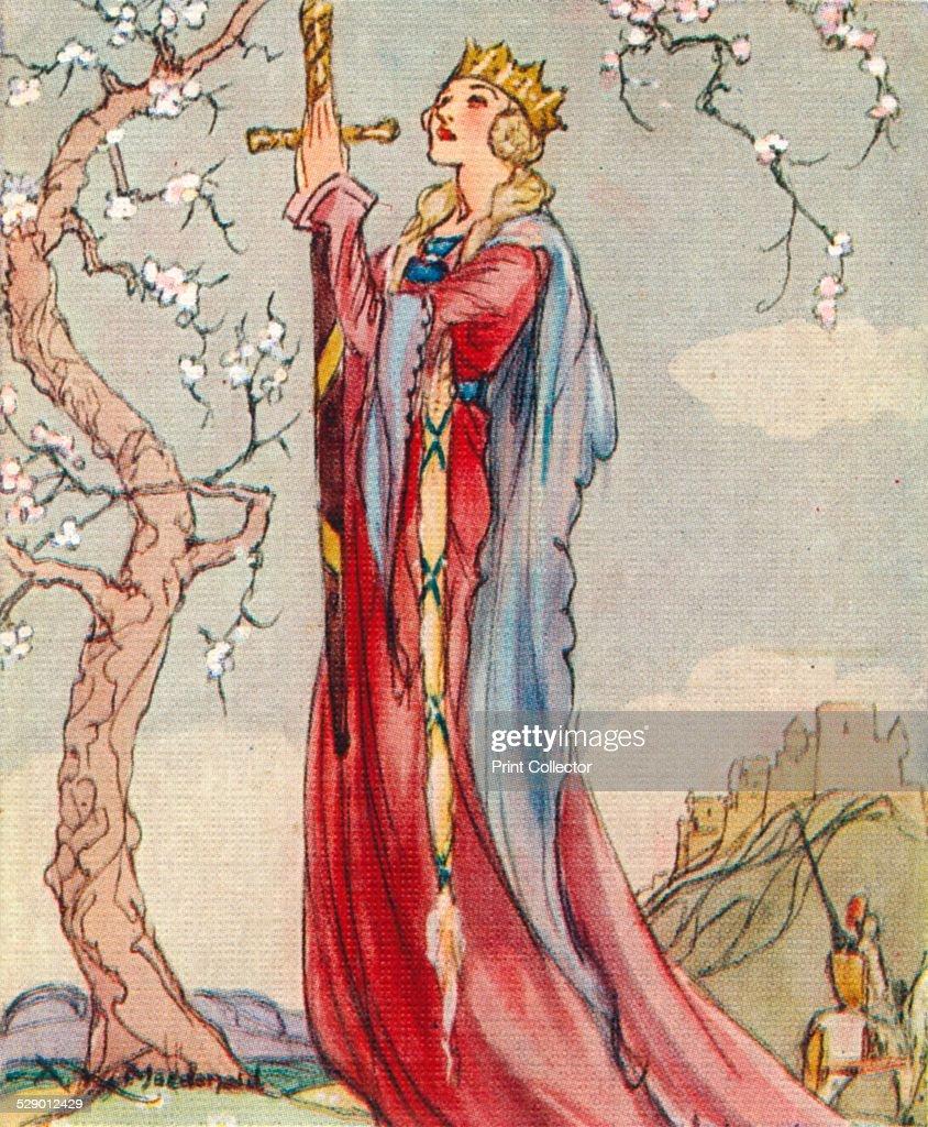 queen guinevere consort of king arthur 1937 artist alexander k