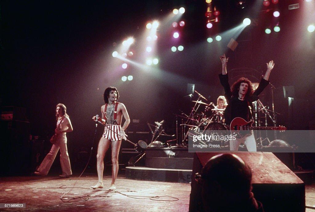 Queen in concert circa 1977.