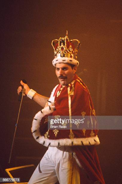 Queen In Concert In Brussels Belgium 1986 Freddie Mercury Of Queen