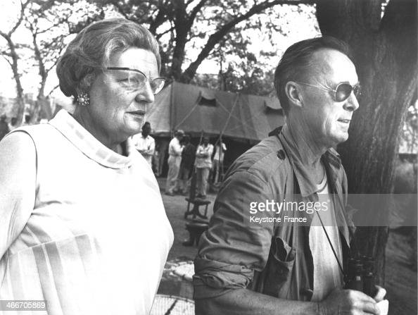 Queen Juliana and Prince Bernhard on March 18 1969 in Ethiopia