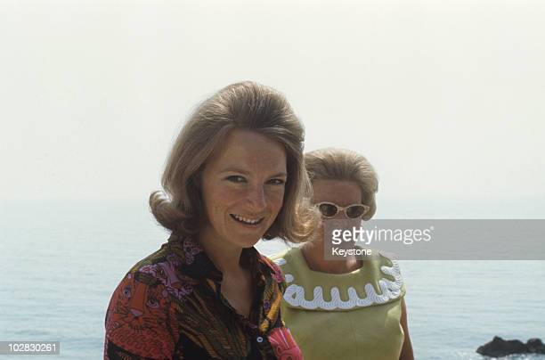 Queen Juliana of the Netherlands and her daughter Princess Irene at Porto Ercole Italy 1969