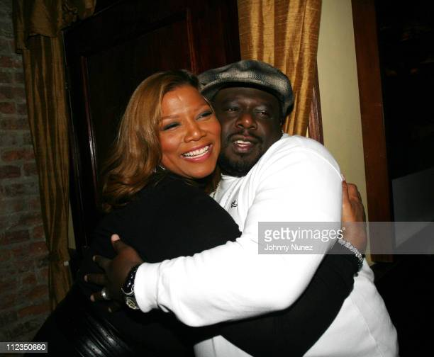 Queen Latifah and Cedric the Entertainer during 'Dreamgirls' New York Premiere After Party Hosted by Unik and Jamie Foxx at Gin Lane in New York City...