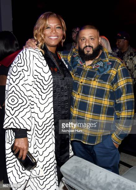 Queen Latifah and DJ Khaled attend VH1 Save The Music 20th Anniversary Gala at SIR Stage37 on October 16 2017 in New York City