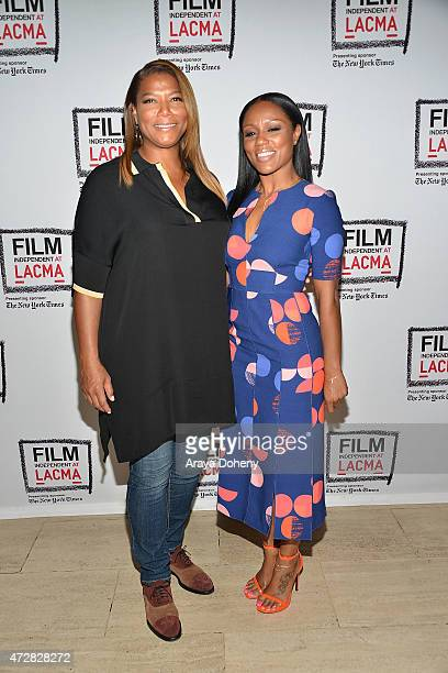 Queen Latifah and Eboni Nichols attend the Film Independent at LACMA special screening of 'Bessie' at LACMA on May 9 2015 in Los Angeles California