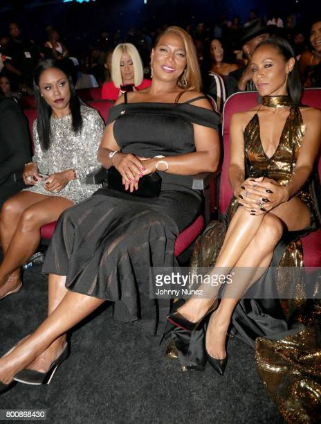 Queen Latifah and Jada Pinkett Smith in the audience at 2017 BET Awards at Microsoft Theater on June 25 2017 in Los Angeles California