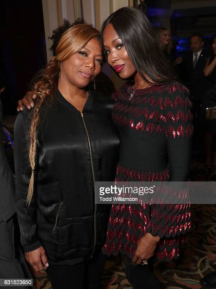Queen Latifah and Naomi Campbell attend the 2017 Winter TCA Tour FOX AllStar Party at Langham Hotel on January 11 2017 in Pasadena California
