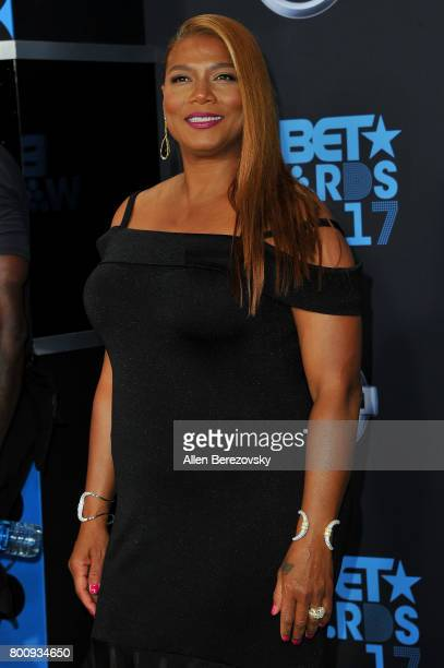 Queen Latifah arrives at the 2017 BET Awards at Microsoft Theater on June 25 2017 in Los Angeles California