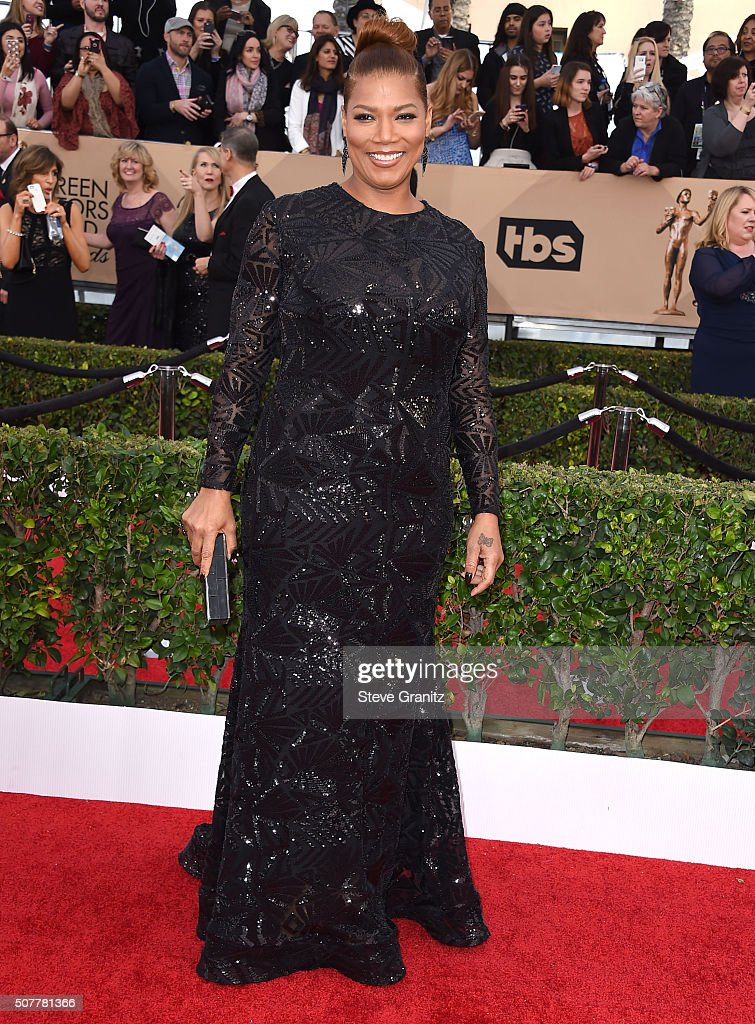 Queen Latifah arrives at the 22nd Annual Screen Actors Guild Awards at The Shrine Auditorium on January 30, 2016 in Los Angeles, California.