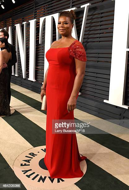 Queen Latifah attends the 2015 Vanity Fair Oscar Party hosted by Graydon Carter at the Wallis Annenberg Center for the Performing Arts on February 22...