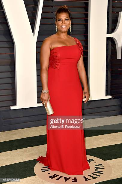 Queen Latifah attends the 2015 Vanity Fair Oscar Party hosted by Graydon Carter at Wallis Annenberg Center for the Performing Arts on February 22...
