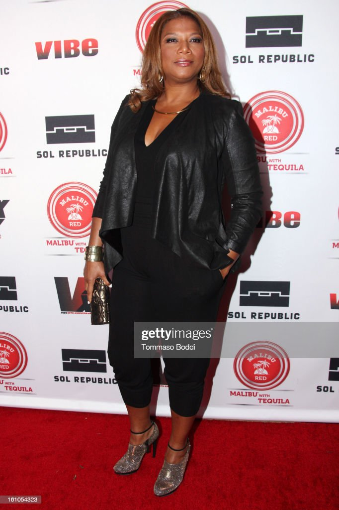 Queen Latifah attends the Vibe Magazine 20th anniversary celebration held at the Sunset Tower on February 8, 2013 in West Hollywood, California.