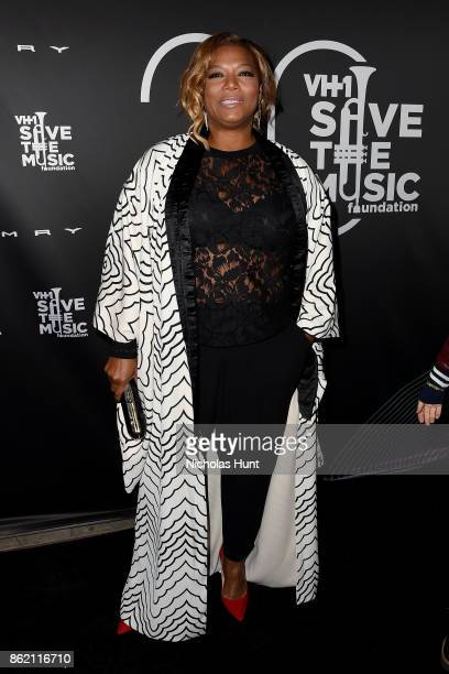 Queen Latifah attends VH1 Save The Music 20th Anniversary Gala at SIR Stage37 on October 16 2017 in New York City