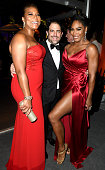 Queen Latifah Brett Ratner and Serena Williams attend the 2015 Vanity Fair Oscar Party hosted by Graydon Carter at the Wallis Annenberg Center for...