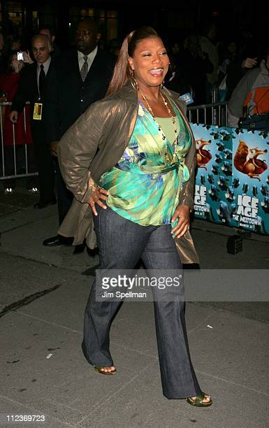 Queen Latifah during 'Ice Age 2 The Meltdown' New York Premiere Outside Arrivals at The Ziegfeld Theatre in New York City New York United States