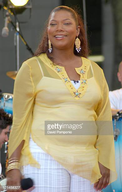 Queen Latifah during Queen Latifah Erykah Badu and Jill Scott Perform on The 2005 'Good Morning America' Concert Series at Bryant Park in New York...