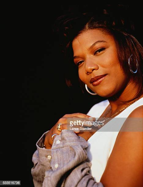 Queen Latifah in White Tank Top