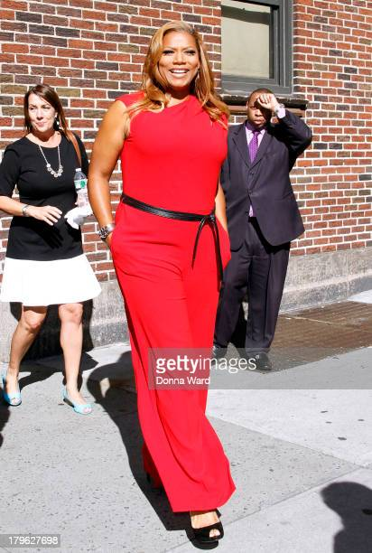 Queen Latifah leaves the 'Late Show with David Letterman' at Ed Sullivan Theater on September 5 2013 in New York City