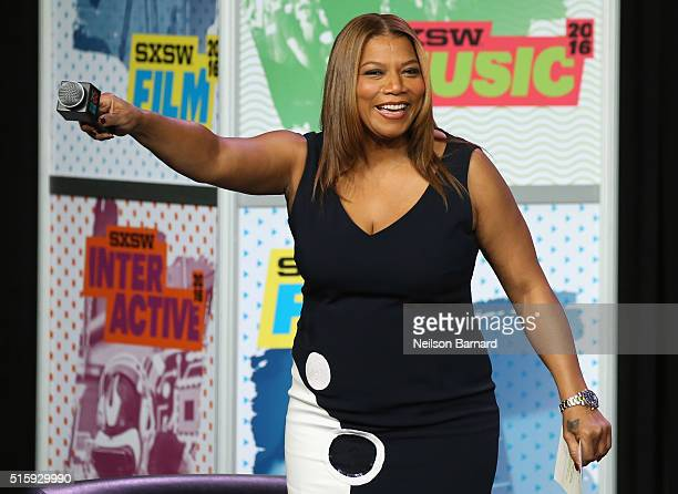 Queen Latifah onstage at SXSW Keynote Michelle Obama during the 2016 SXSW Music Film Interactive Festival at Austin Convention Center on March 16...