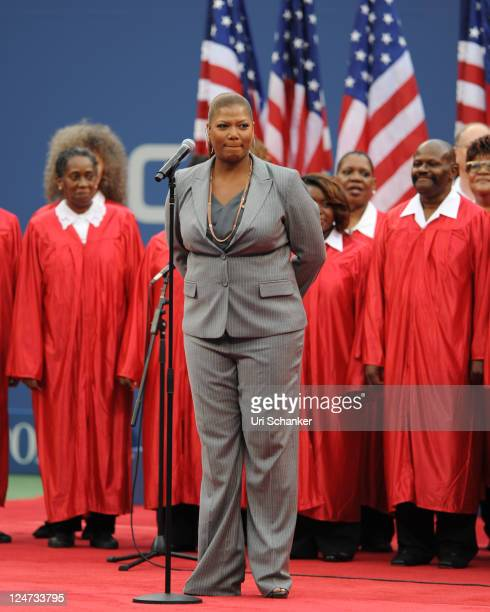 Queen Latifah performs at the 2011 US Open at USTA Billie Jean King National Tennis Center on September 11 2011 in New York City