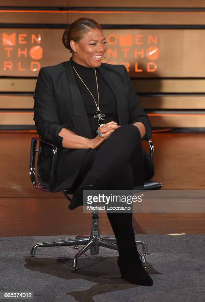 Queen Latifah speaks during the Eighth Annual Women In The World Summit at Lincoln Center for the Performing Arts on April 6 2017 in New York City