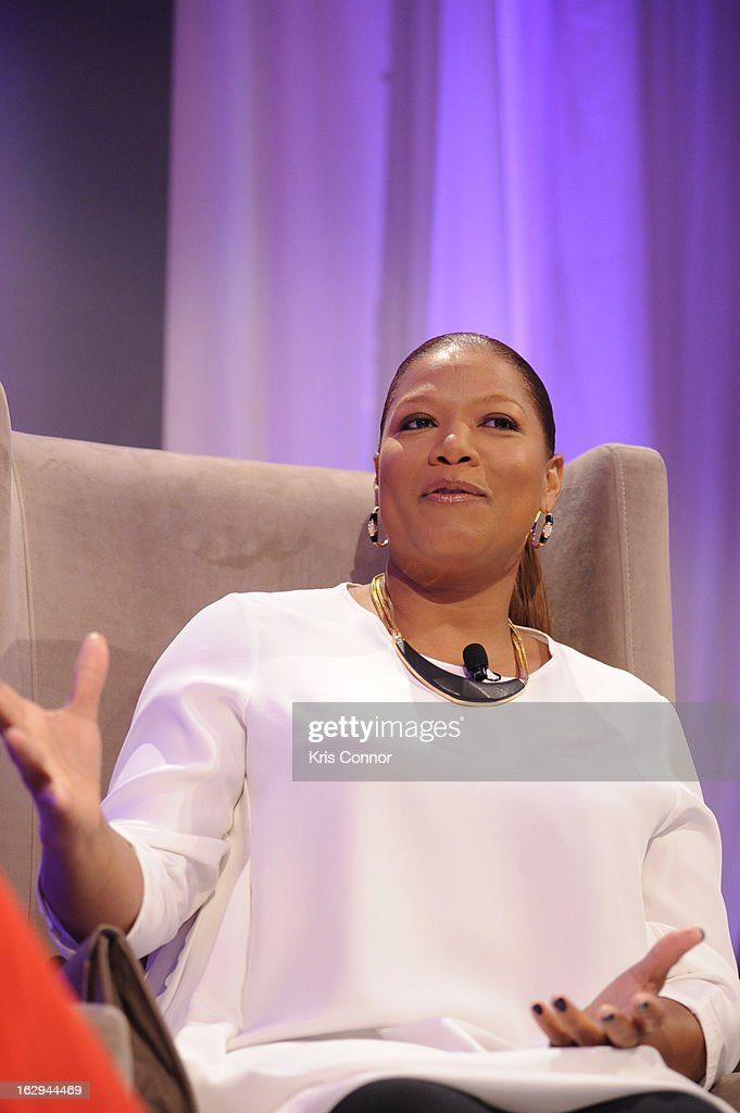 <a gi-track='captionPersonalityLinkClicked' href=/galleries/search?phrase=Queen+Latifah&family=editorial&specificpeople=171793 ng-click='$event.stopPropagation()'>Queen Latifah</a> speaks during the Leading Women Defined: Girl's Night Out at Ritz Carlton Hotel on March 1, 2013 in Washington, DC.