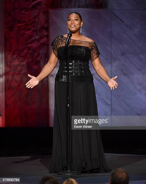Queen Latifah speaks onstage during the 2015 AFI Life Achievement Award Gala Tribute Honoring Steve Martin at the Dolby Theatre on June 4 2015 in...