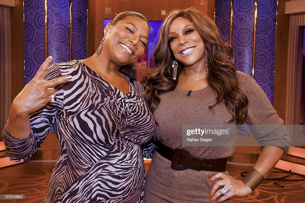 Queen Latifah visits 'The Wendy Williams Show' to promote her new movie 'Joyful Noise' at The Wendy Williams Show Studio on January 18 2012 in New...