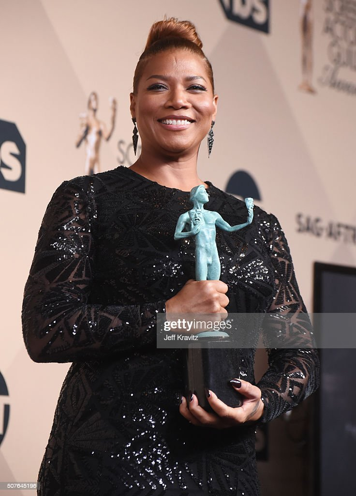 Queen Latifah winner of the Outstanding Performance by a Female Actor in a Television Movie or Miniseries Award poses in the press room during the...