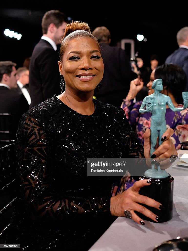 Queen Latifah winner of the Outstanding Performance by a Female Actor in a Miniseries or Television Movie award for 'Bessie' poses during The 22nd...