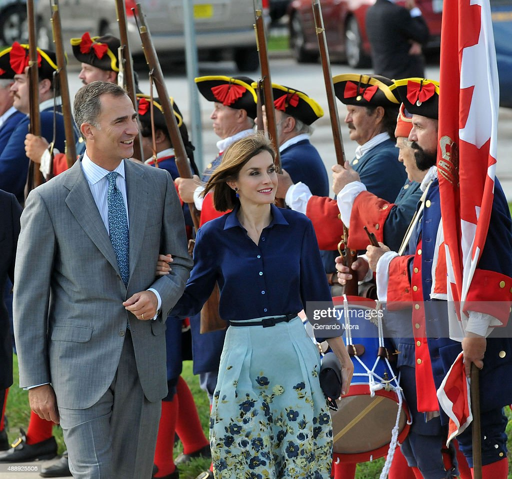 the king and queen of spain visit st augustine photos and images