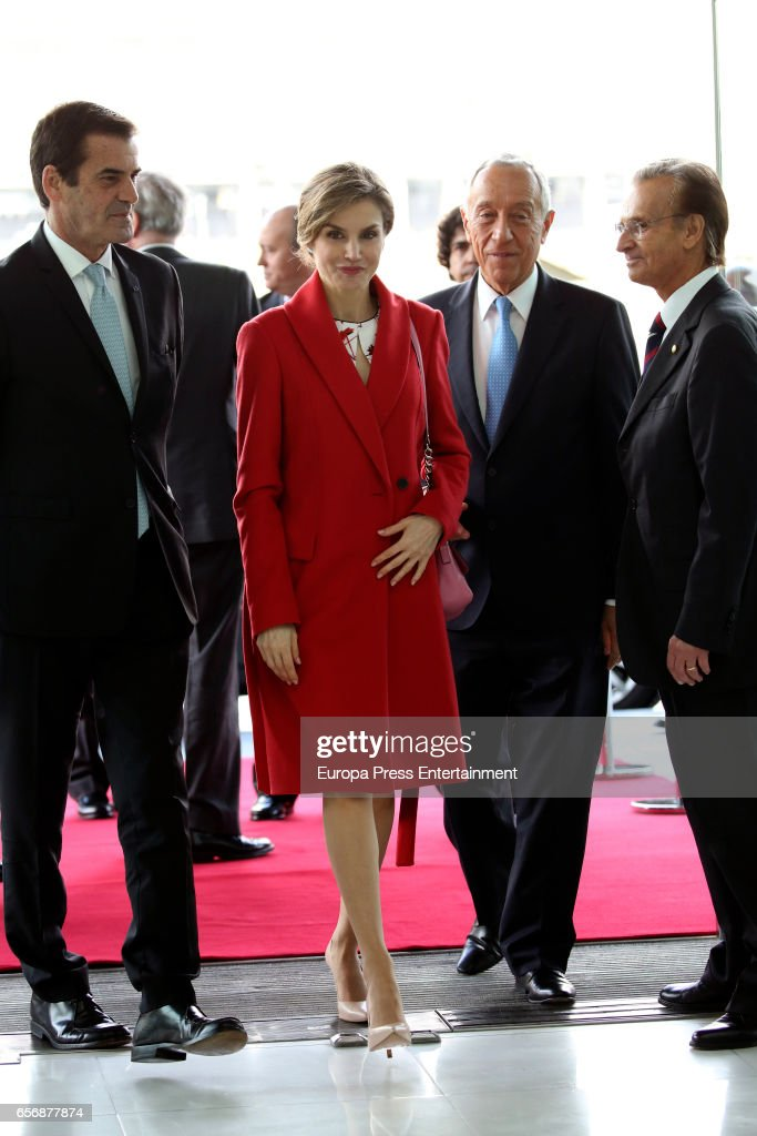 Queen Letizia Of Spain Attends Forum Against Cancer in Porto