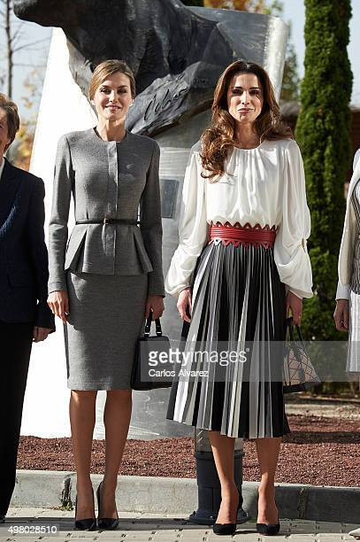 Queen Letizia of Spain and Queen Rania Abdullah of Jordan visit the Molecular Biology Center 'Severo Ochoa' at the Autonoma University on November 20...