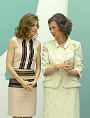 Queen Letizia of Spain and Queen Sofia attend the FAD 30th Anniversary event at the Real Casa de Correos on June 22 2016 in Madrid Spain
