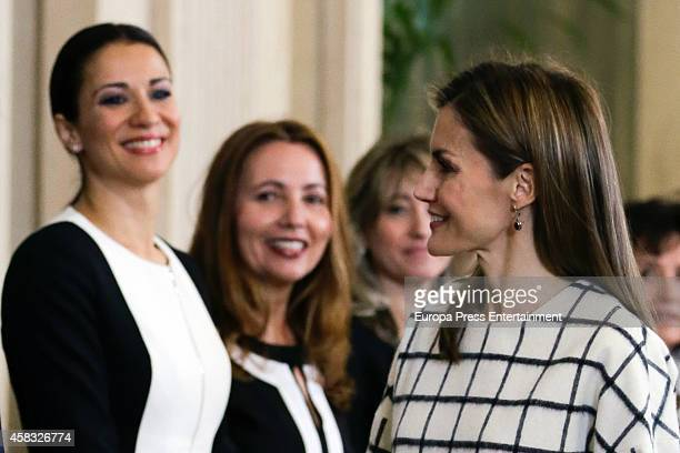 Queen Letizia of Spain and Silvia Jato attend audiences at Zarzuela Palace on November 3 2014 in Madrid Spain