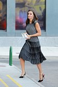 ESP: Queen Letizia Arrives At A Meeting With 'Fundeu BBVA'