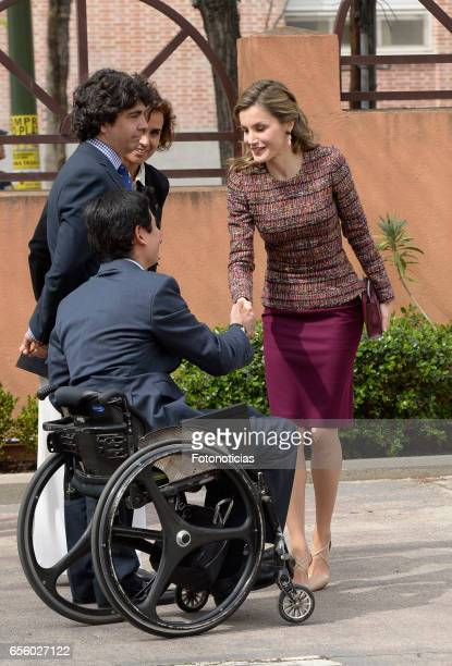 Queen Letizia of Spain arrives to the Royal Board of Disability headquarters on March 21 2017 in Madrid Spain