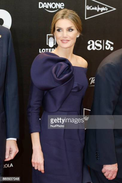 Queen Letizia of Spain attend the a dinner to commemorate the 50th anniversary of the sports newspaper 'As' and the As Sports Award ceremony at the...