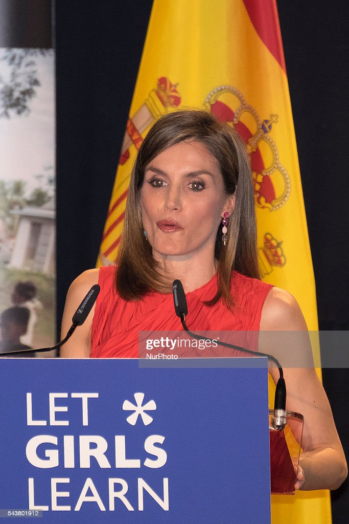 Queen <a gi-track='captionPersonalityLinkClicked' href=/galleries/search?phrase=Letizia+of+Spain&family=editorial&specificpeople=158373 ng-click='$event.stopPropagation()'>Letizia of Spain</a> attend the presentation of 'Let Girls Learn' by US First Lady Michelle Obama at Matadero cultural center on on June 30, 2016 in Madrid, SpainQueen <a gi-track='captionPersonalityLinkClicked' href=/galleries/search?phrase=Letizia+of+Spain&family=editorial&specificpeople=158373 ng-click='$event.stopPropagation()'>Letizia of Spain</a> attend the presentation of 'Let Girls Learn' by US First Lady Michelle Obama at Matadero cultural center on on June 30, 2016 in Madrid, Spain Photo: Oscar Gonzalez/NurPhoto