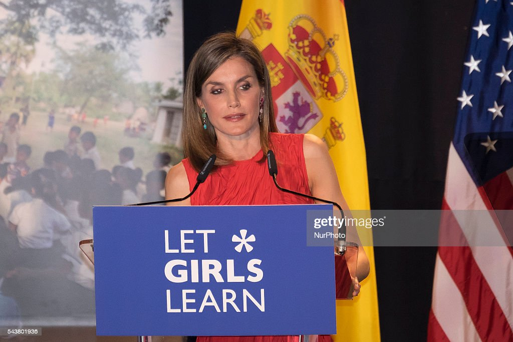 Queen Letizia of Spain attend the presentation of 'Let Girls Learn' by US First Lady Michelle Obama at Matadero cultural center on on June 30, 2016 in Madrid, SpainQueen Letizia of Spain attend the presentation of 'Let Girls Learn' by US First Lady Michelle Obama at Matadero cultural center on on June 30, 2016 in Madrid, Spain Photo: Oscar Gonzalez/NurPhoto