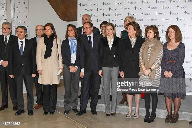 Queen Letizia of Spain attends a forum against cancer at Telefonica building on February 4 2015 in Madrid Spain