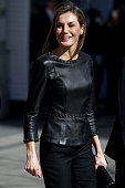 Queen Letizia Attends a Gender Violence Meeting in...