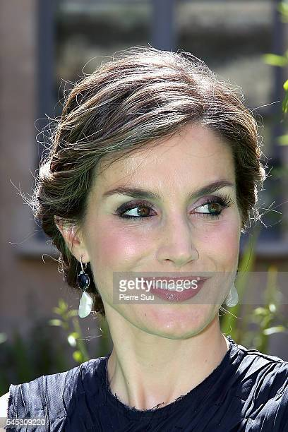 Queen Letizia of Spain Attends A Lunch At Ministere Of Ecology with French Minister for Ecology Sustainable Development and Energy Segolene Royal on...