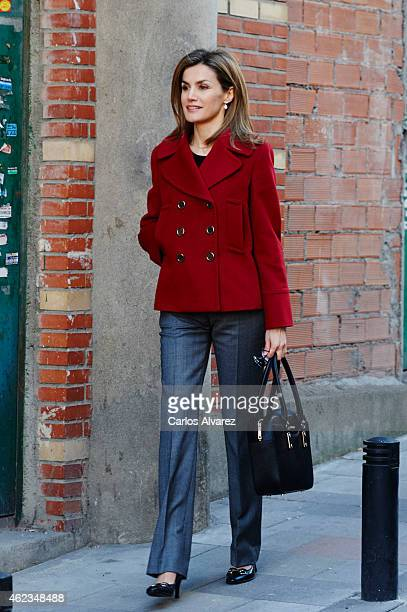Queen Letizia of Spain attends a meeting at FEDER on January 27 2015 in Madrid Spain