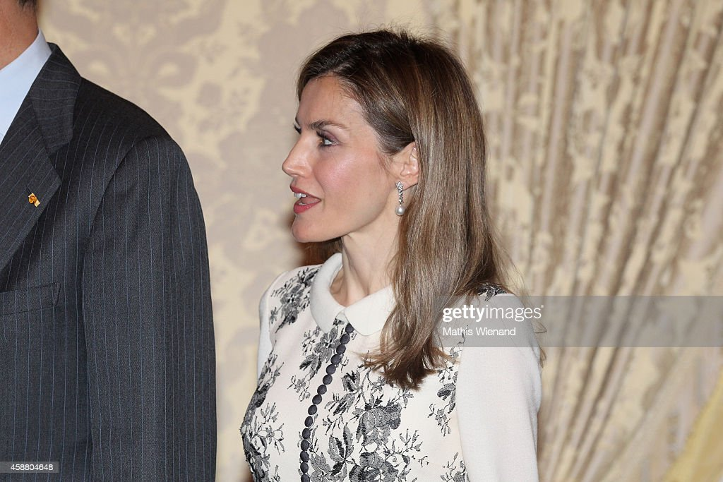 Queen Letizia Of Spain attends A One Day Visit In Luxembourg on November 11, 2014 in Luxembourg, Luxembourg.