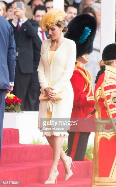 Queen Letizia of Spain attends a State visit by the King and Queen of Spain on July 12 2017 in London England This is the first state visit by the...