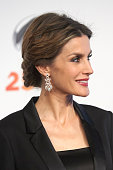 Queen Letizia of Spain attends Antena 3 TV Channel 25th anniversary party at the Palacio de Cibeles on January 29 2015 in Madrid Spain