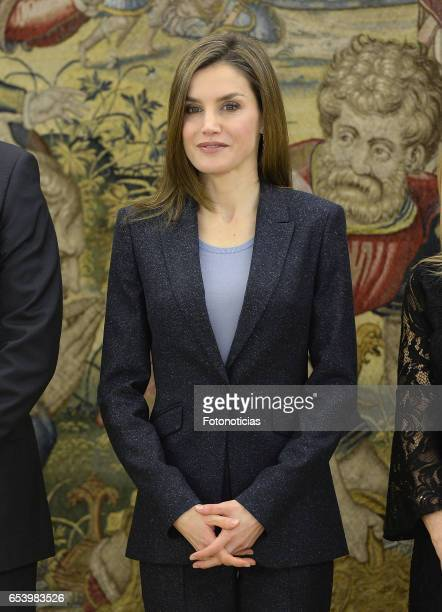 Queen Letizia of Spain attends Audiences at Zarzuela Palace on March 16 2017 in Madrid Spain