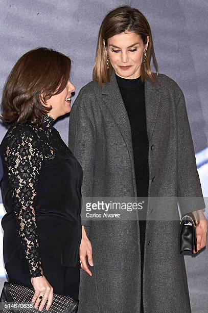 Queen Letizia of Spain attends 'In Memorian' concert at the National Auditorium on March 10 2016 in Madrid Spain