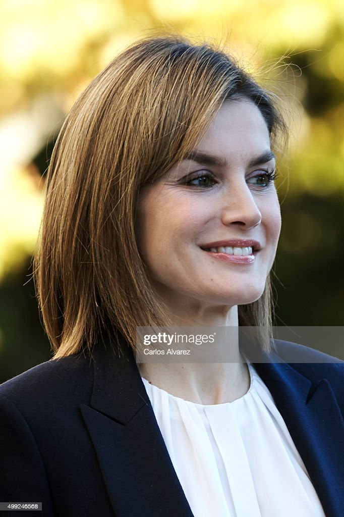 Queen Letizia of Spain attends Nutrigenomics Seminar at the CSIC Institute on November 30, 2015 in Madrid, Spain.