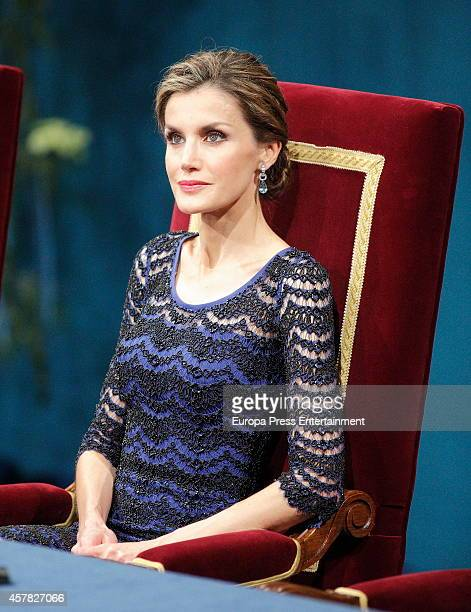 Queen Letizia of Spain attends Prince of Asturias Awards 2014 on October 24 2014 in Oviedo Spain